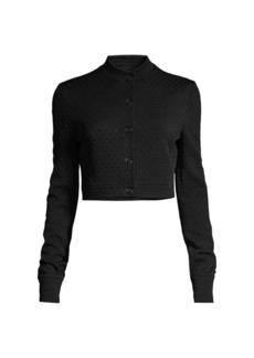 Elie Tahari Gracie Jacquard Cropped Jacket