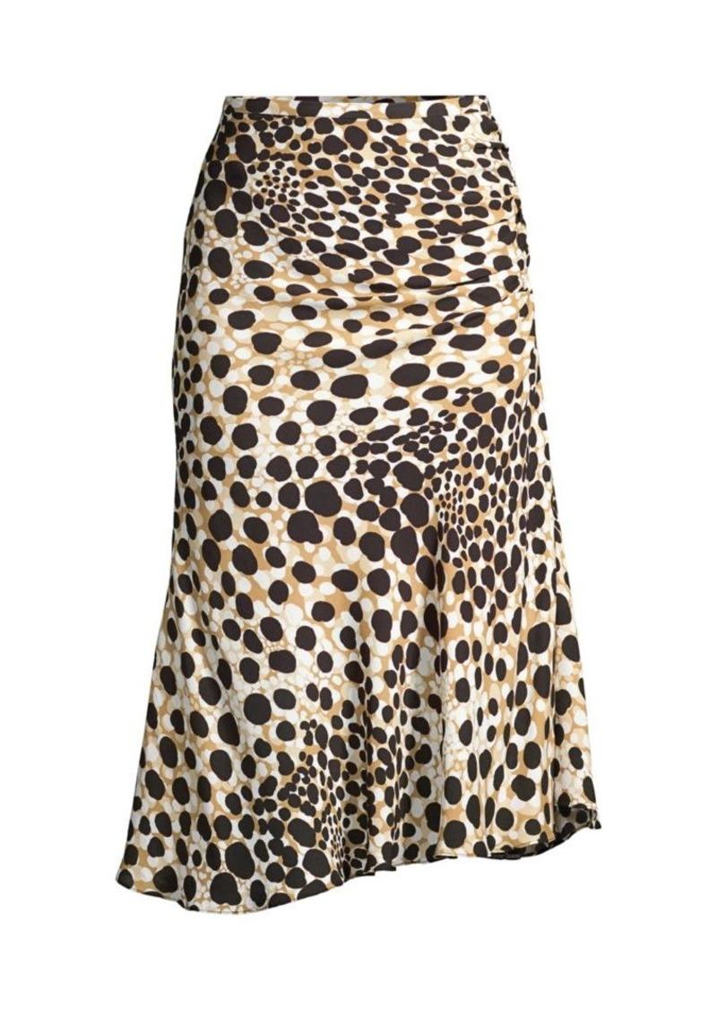 Elie Tahari Haidee Spotted Silk Skirt