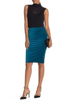 Elie Tahari Harla Velvet Pencil Skirt