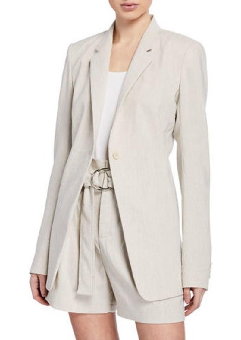 Elie Tahari Hillary One-Button Linen Jacket