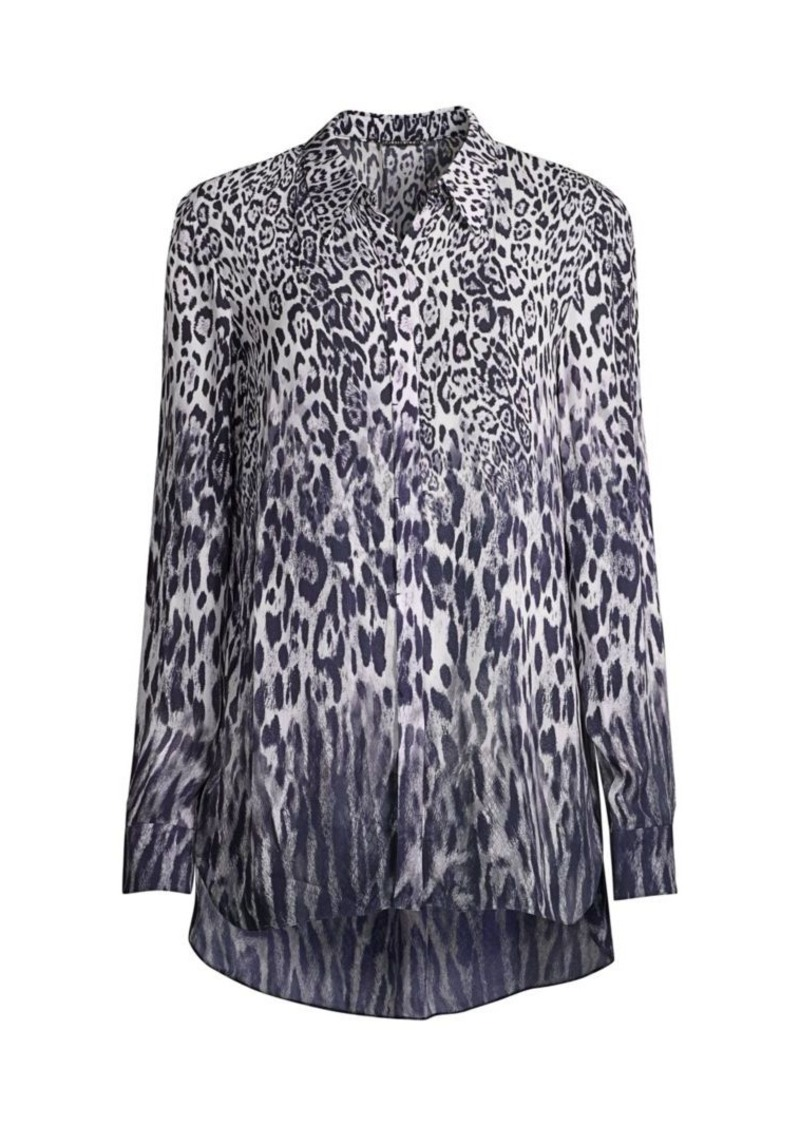 Elie Tahari Ingunn Leopard-Print Button-Front Shirt