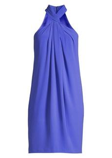 Elie Tahari Ivanna Twist-Neck Crepe Dress