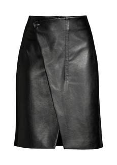 Elie Tahari Jade Faux-Leather Wrap Skirt