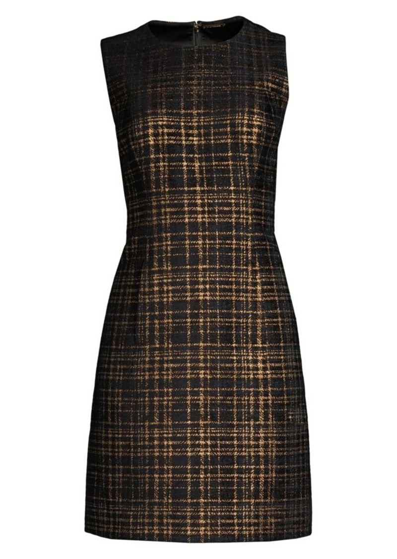 Elie Tahari Jaelyn Tweed Mini A-Line Dress