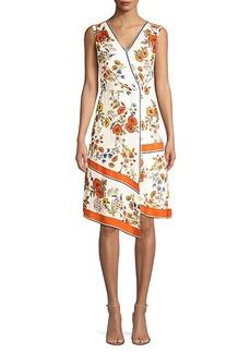 Elie Tahari Janele Floral Asymmetric Dress