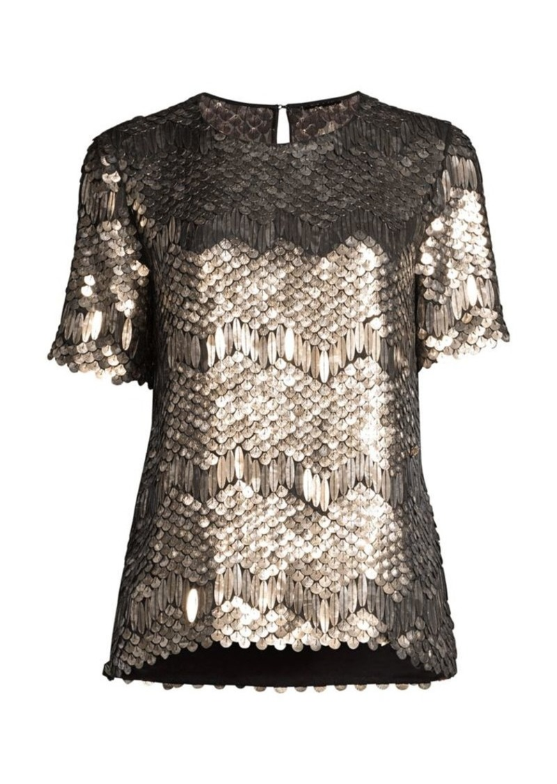 Elie Tahari Java Sequin Top