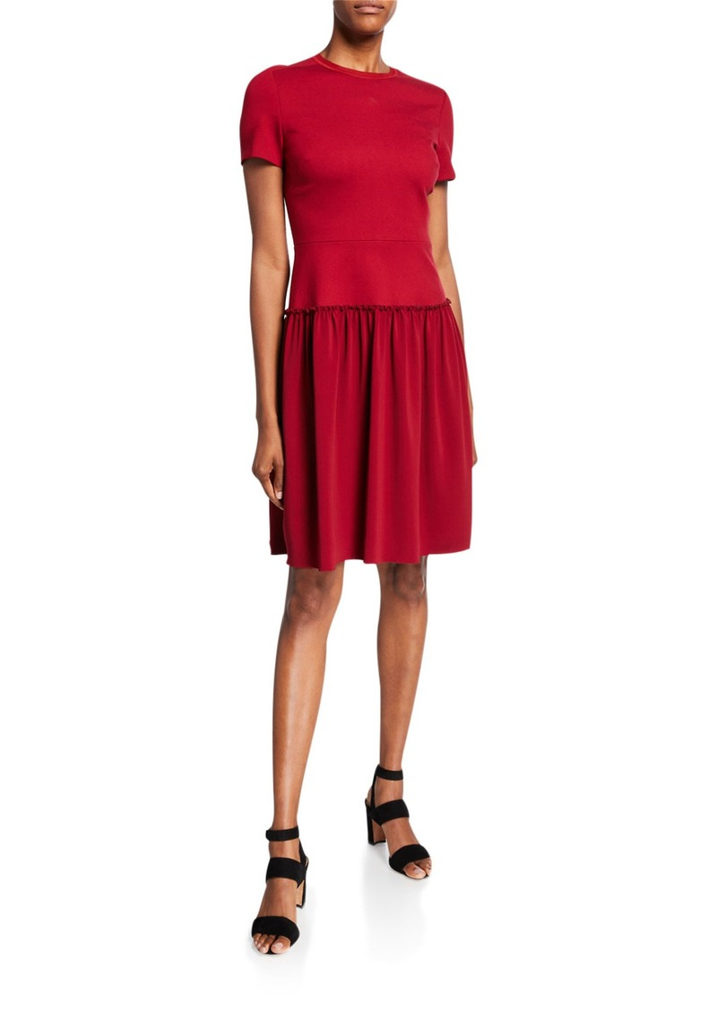 Elie Tahari Jay Short-Sleeve Ponte Dress