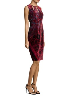 Elie Tahari Jemra Cutout Velvet Sheath Dress