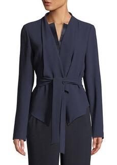 Elie Tahari Jenn Tie-Waist Jacket