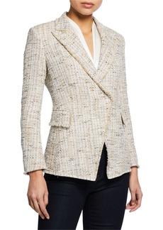 Elie Tahari Jezebel Button-Front Tweed Jacket