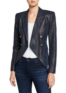 Elie Tahari Jezebel Metallic Double-Breasted Jacket