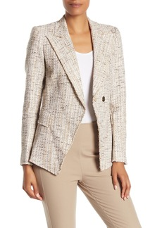 Elie Tahari Jezebel Peak Lapel Metallic Tweed Jacket