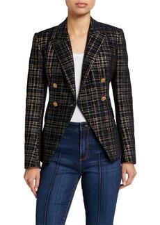 Elie Tahari Jezebel Plaid Double-Breasted Jacket