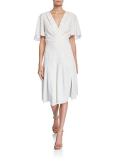 Elie Tahari Jila V-Neck Short-Sleeve Dress
