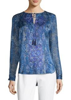 Jolene Printed Silk Blouse