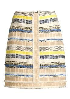 Elie Tahari Julietta Striped Tweed Skirt