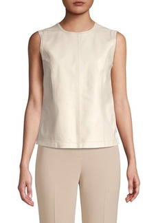 Elie Tahari Kai Lamb Leather Blouse