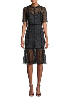 Elie Tahari Kaila Lace Cocktail Dress