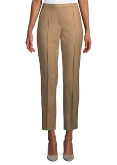 Elie Tahari Karis Straight-Leg Wool-Stretch Pants