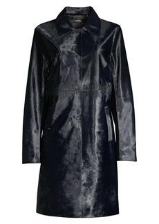 Elie Tahari Karla Calf Hair Trench Coat