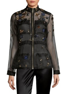 Elie Tahari Katya Sheer Silk Jacket