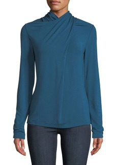 Elie Tahari Keilani High-Neck Knit Top