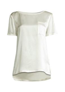Elie Tahari Keva Silk T-Shirt