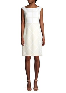 Elie Tahari Lacey Windowpane Check Sheath Dress