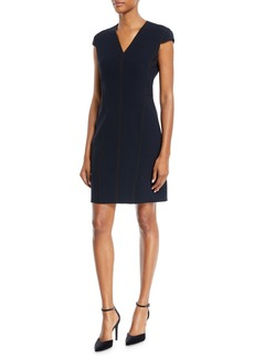Elie Tahari Laurie Cap-Sleeve Dress