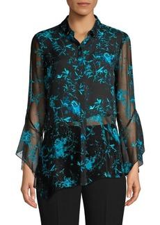 Elie Tahari Layla Floral Silk Blouse