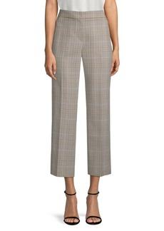 Elie Tahari Leena Crop Glen Plaid Suiting Trousers