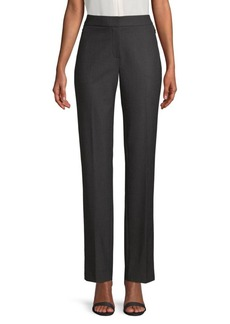 Elie Tahari Leena Dotted Plain Weave Suiting Trousers