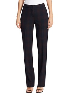 Elie Tahari Leena Shadow Plaid Suiting Trousers