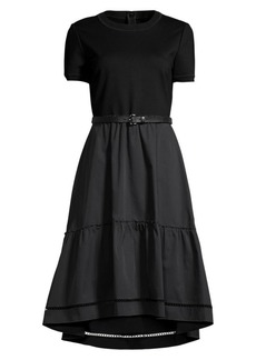 Elie Tahari Lenny High-Low Belted Midi Dress