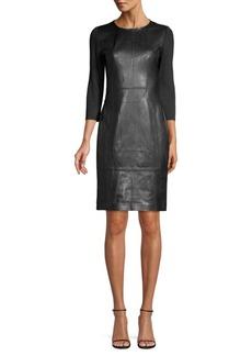 Elie Tahari Lesa Leather Dress