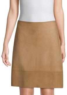 Elie Tahari Lexie Suede Skirt