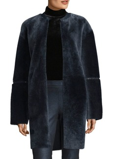 Elie Tahari Linda Oversized Lamb Shearling Jacket