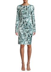 Elie Tahari Liora Snakeskin-Print Dress