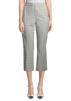 Elie Tahari Lisa Micro Plaid Crop Pants