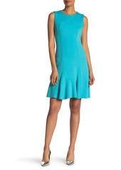 Elie Tahari Lizzie Ponte Knit Midi Dress
