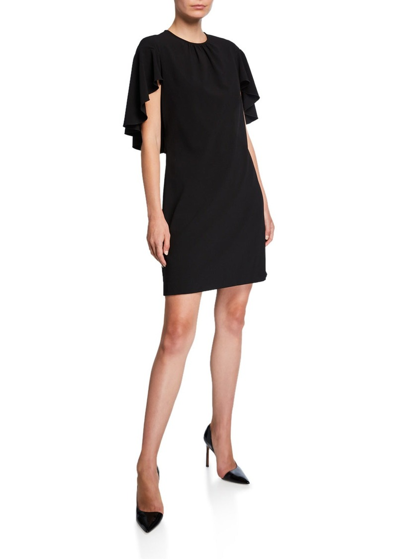 Elie Tahari Lolly Draped-Sleeve Sheath Dress