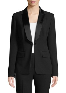 Elie Tahari Lorelei One-Button Tuxedo Jacket