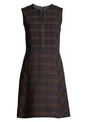 Elie Tahari Louisa Plaid Fit-&-Flare Dress