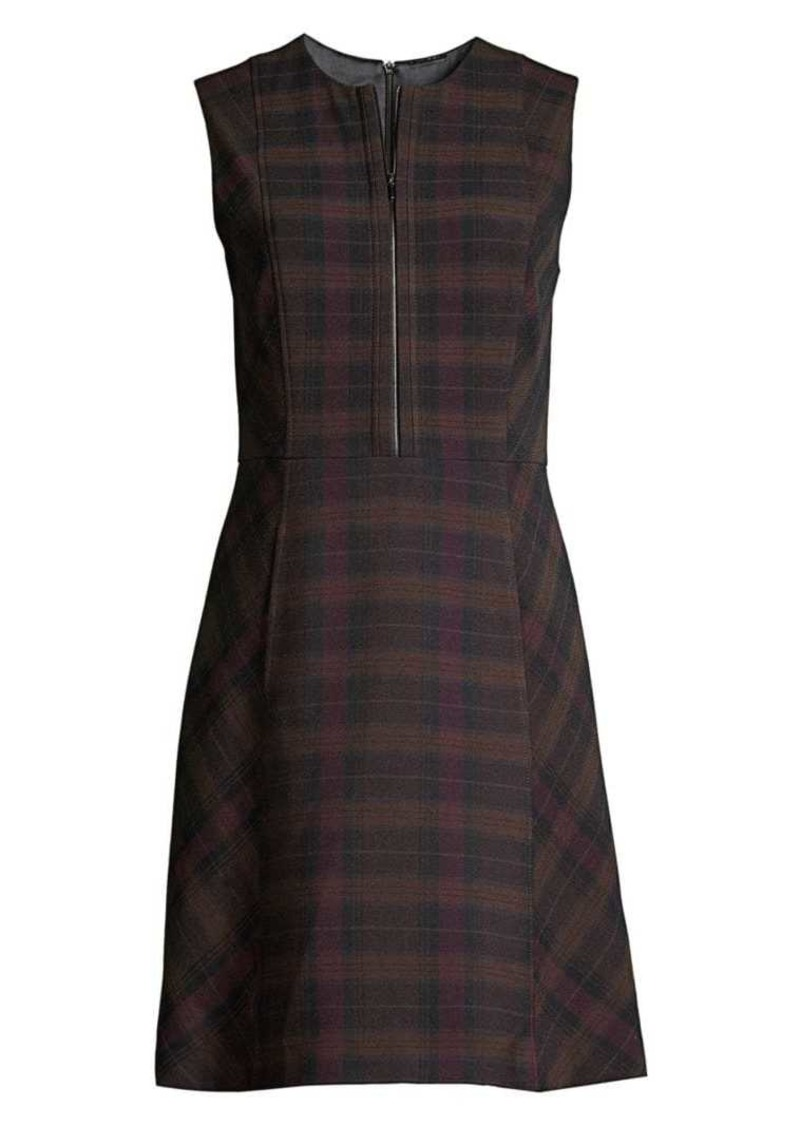 Elie Tahari Louisa Plaid Fit-&-Flare Dress
