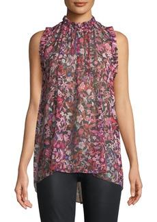 Elie Tahari Lucy Floral-Print Silk Blouse