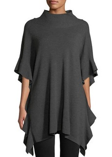 Elie Tahari Lucy Wool Poncho Sweater