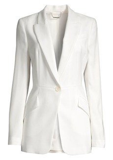 Elie Tahari Madison Crepe One-Button Blazer