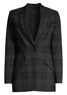 Elie Tahari Madison Plaid Single-Breasted Jacket