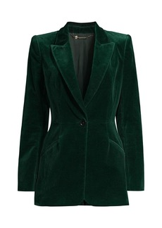 Elie Tahari Madison Stretch-Velvet Jacket