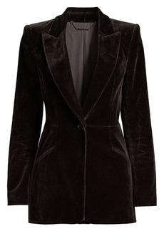Elie Tahari Madison Velvet Single-Breasted Jacket